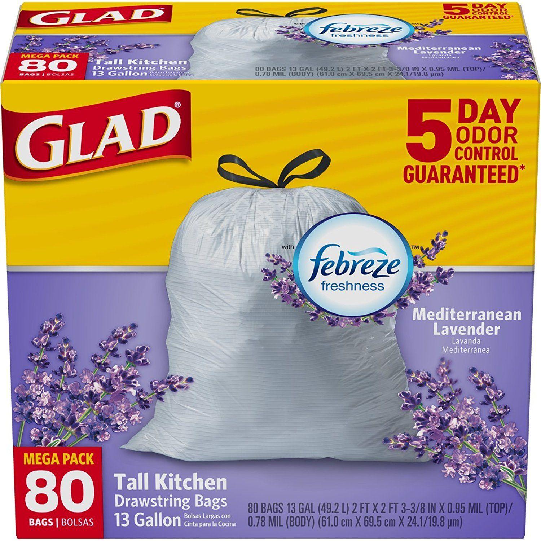 Glad OdorShield Tall Kitchen Drawstring Trash Bags - Febreze ...
