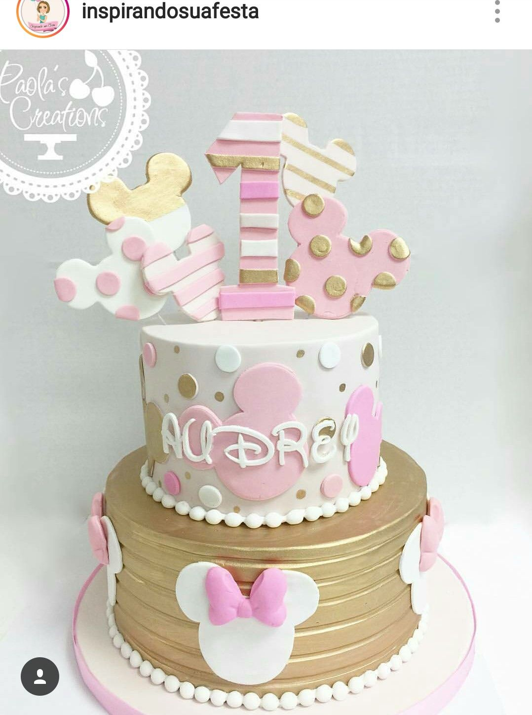 Minnie Mouse Custom Birthday Cake 1 Pinterest Custom