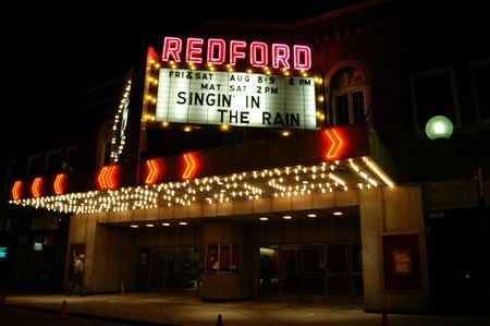 Redford Theatre The Redford At Night Singin In The Rain Theatre Old Movies