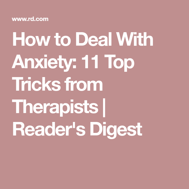 tricks to deal with anxiety