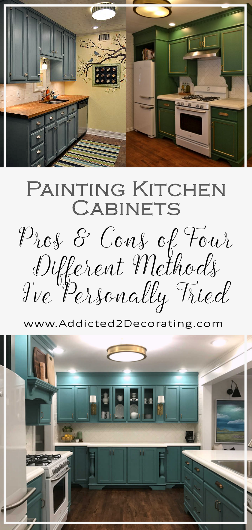 Painting Kitchen And Bathroom Cabinets Pros Cons Of Four Different Methods I Ve Personally Used Addicted 2 Decorating Painting Kitchen Cabinets Kitchen Cabinets In Bathroom Kitchen Cabinets