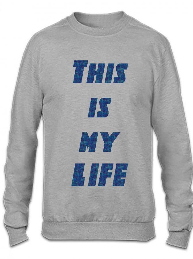 this is my life Crewneck Sweatshirt