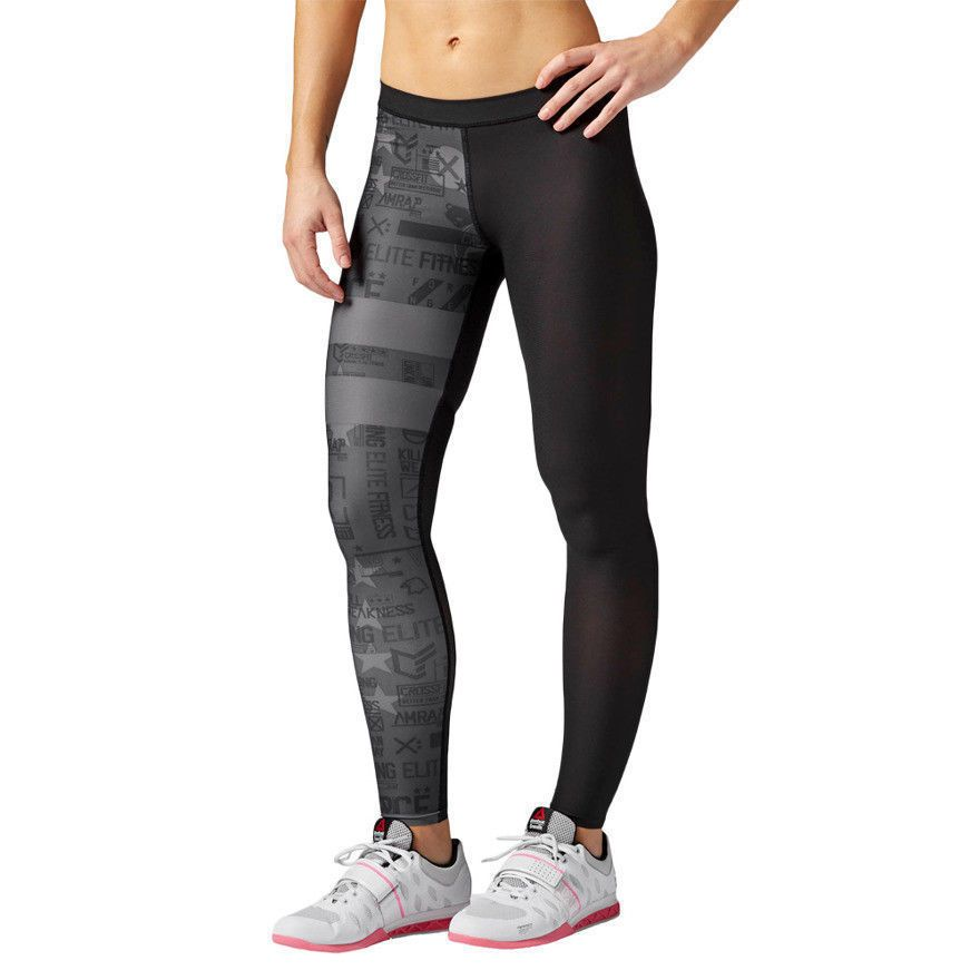 Women S Moisture Managing Tights Reebok Crossfit Compression Tight Stripes Track Pants Women Reebok Women Reebok Crossfit
