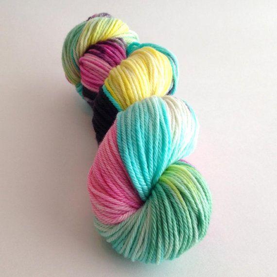 Hand Dyed Yarn Lagoona Superwash Merino by aVividYarnStudio