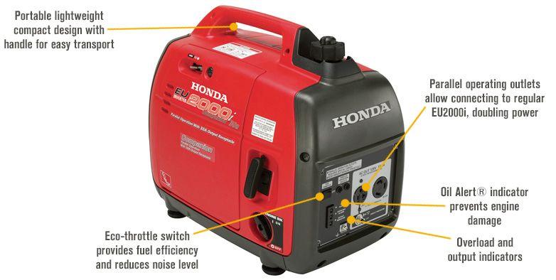 Honda Eu2200itag1 Companion Inverter Generator 2200 Surge Watts 1800 Rated Watts Parallel Capable Model Eu2200itag1 Companion Honda Gerador Portátil Geradores