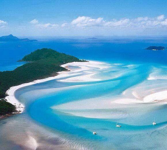 Whitehaven Beach, Australia   Playas paradisiacas, Playa escondida ...