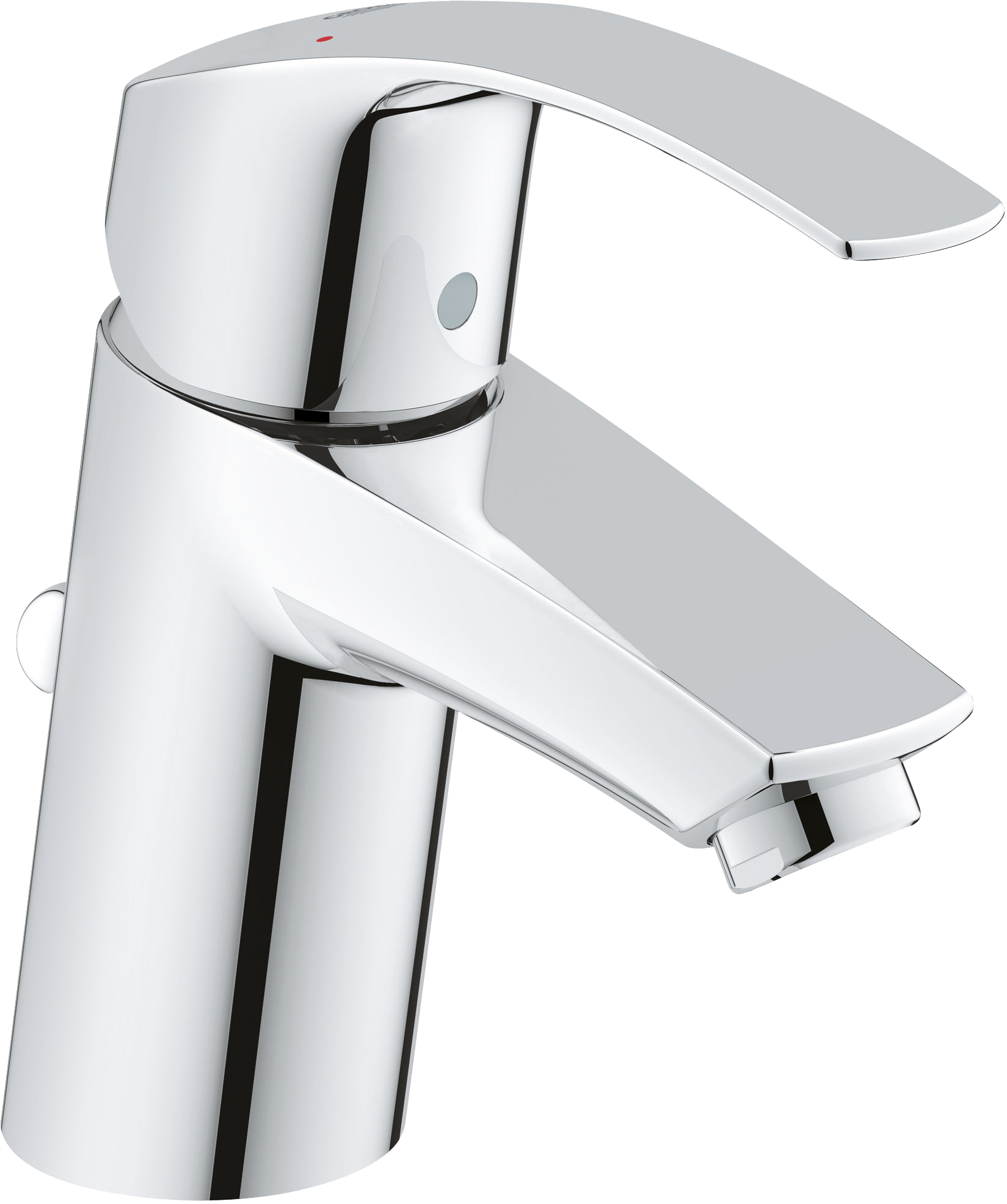 Grohe Eurosmart Basin Mixer Tap With Pop Up Waste Bathroom Sink Faucets Chrome Single Hole Bathroom Faucet Low Arc Bathroom Faucet