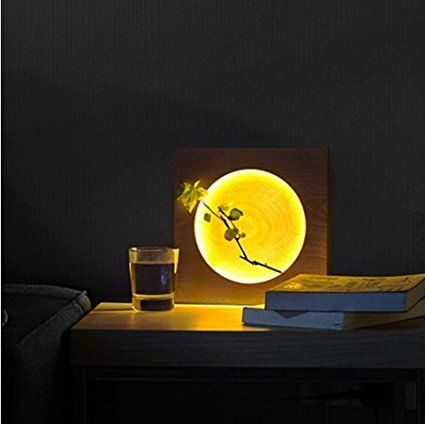 New Journey unique Bedside Accent Unusual Home Decor Bedroom Table Desk Lamp (FULL MOON)
