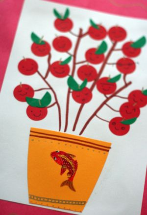 Lucky Tree Craft For Chinese New Year By Ashley Lucas Via Jcfamilies Com Chinese Crafts Chinese New Year Crafts Chinese New Year Crafts For Kids