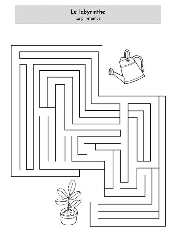 Le printemps - Le labyrinthe   Labyrinthe, Jeu labyrinthe, Labyrinthe enfant