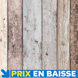 Papier Peint Vinyle Sur Intisse Planche Marron Bleu Papier Peint Papier Peint Vinyle Plancher Bois