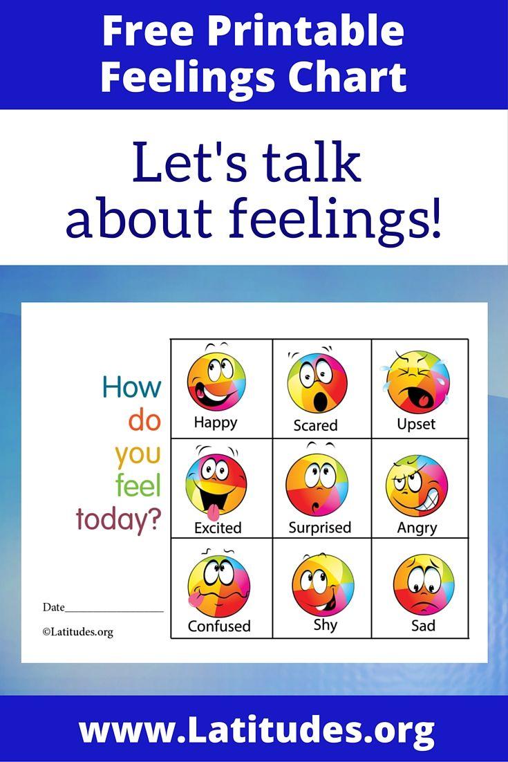 Free Feelings Chart How Do You Feel