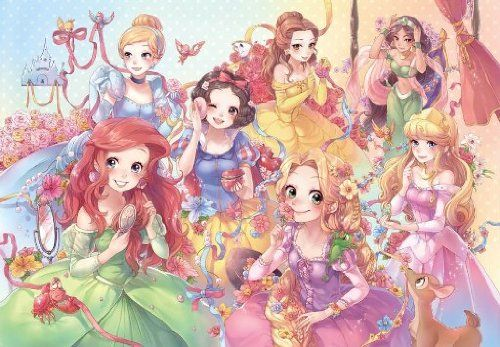 Japan Jigsaw Puzzle, Purely Disney Princess [Pure White] 1000 Pieces DP-1000-023