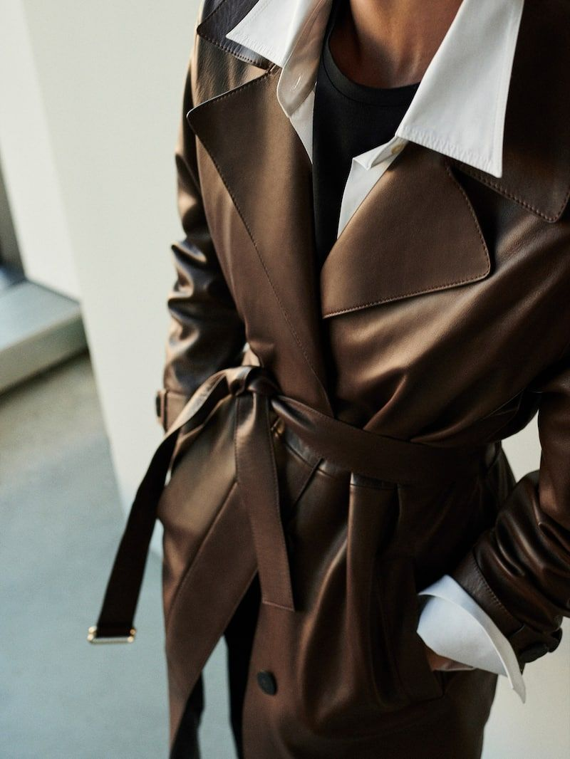 Nappa Trench Style Jacket With Belt Women Massimo Dutti Massimo Dutti Massimo Dutti Women Vogue Spain