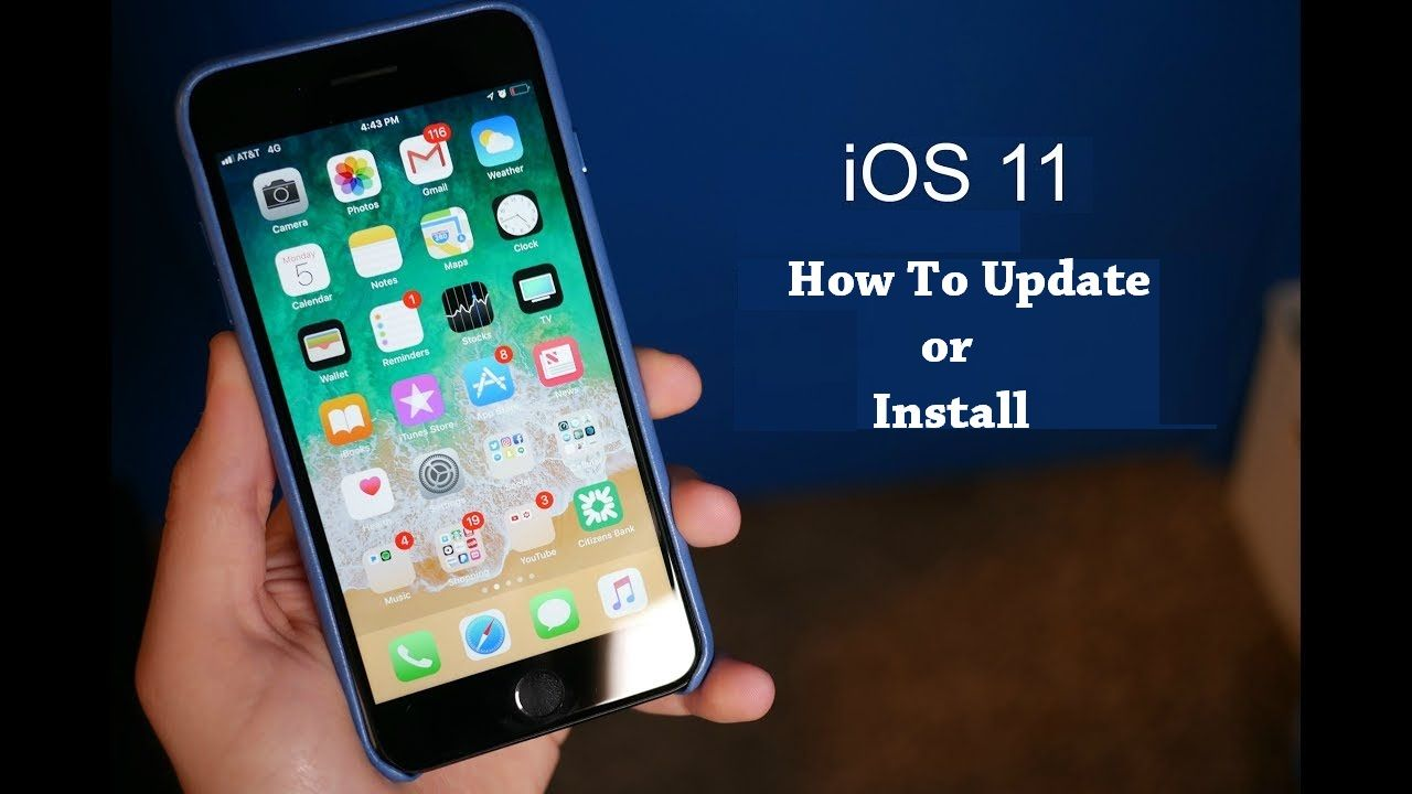 Download or install iOS 11, iOS 11.2.1 in iPhone 5,5S