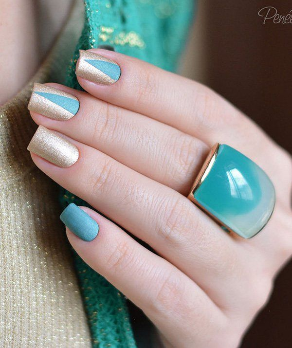 65 Winter Nail Art Ideas | Winter nail art, Winter nails and Gold ...