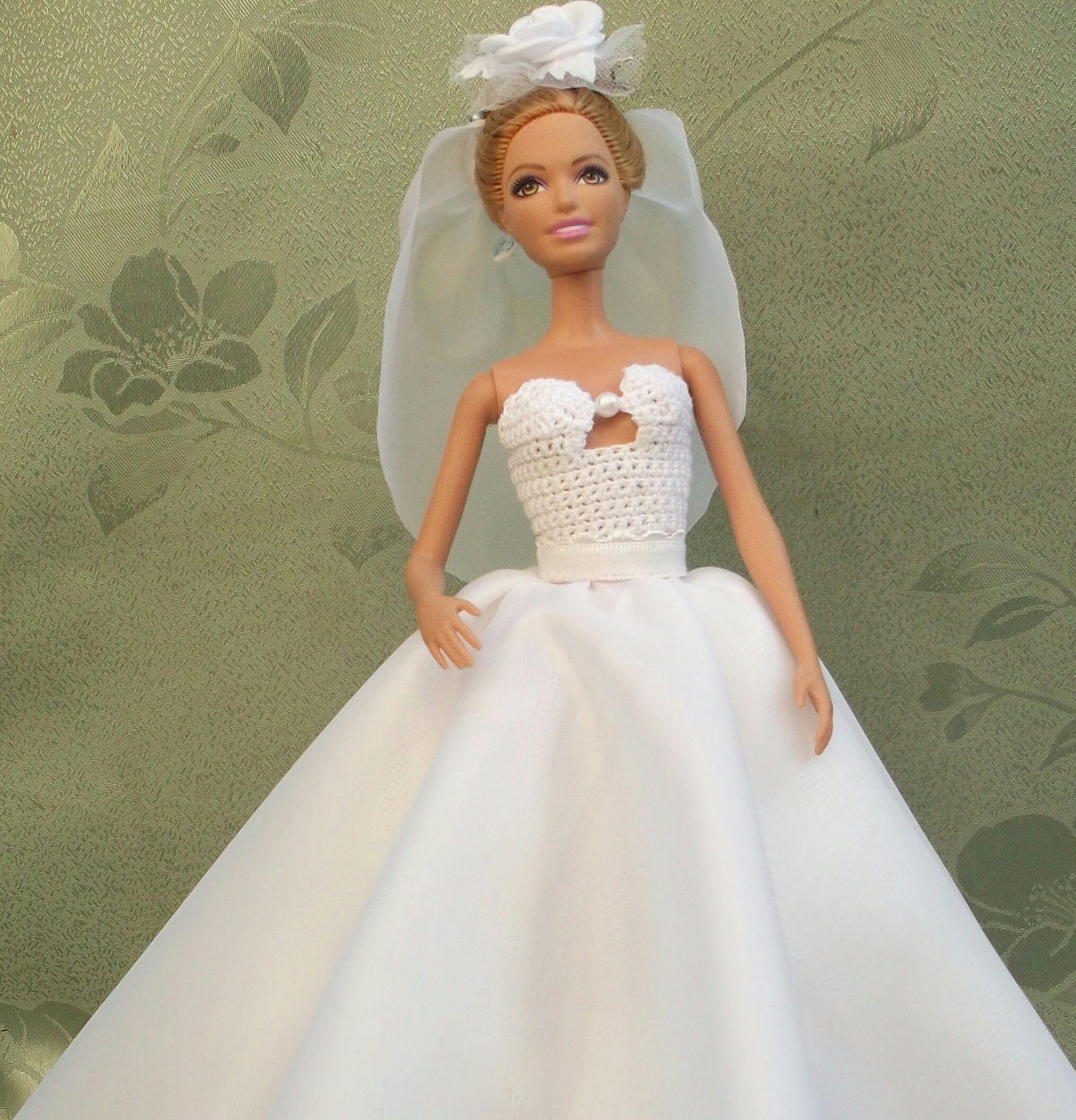 Как сшить свадебное платье для Барби. How to sew a wedding dress ...