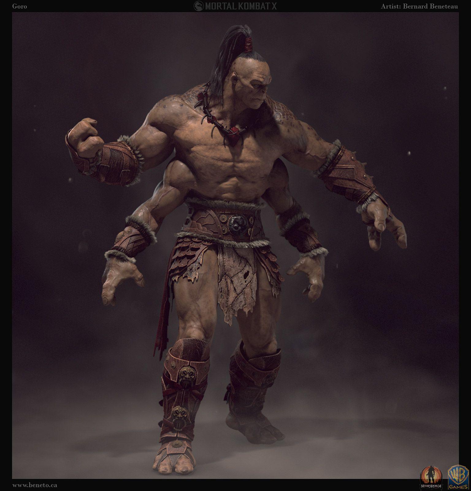MK X- Goro by Bernard Beneteau | Fantasy | 3D | Mortal kombat art, Mortal  kombat x, Mortal kombat