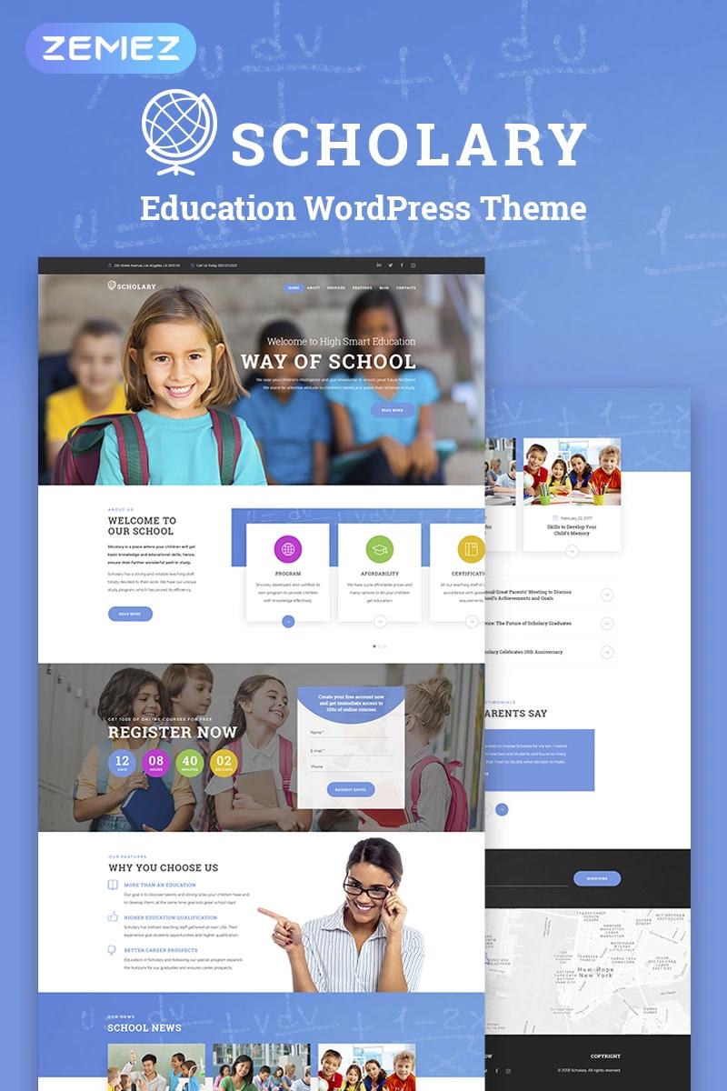 Scholary Primary School Wordpress Theme 67505 In 2020 Education Wordpress Themes Primary School Wordpress Theme