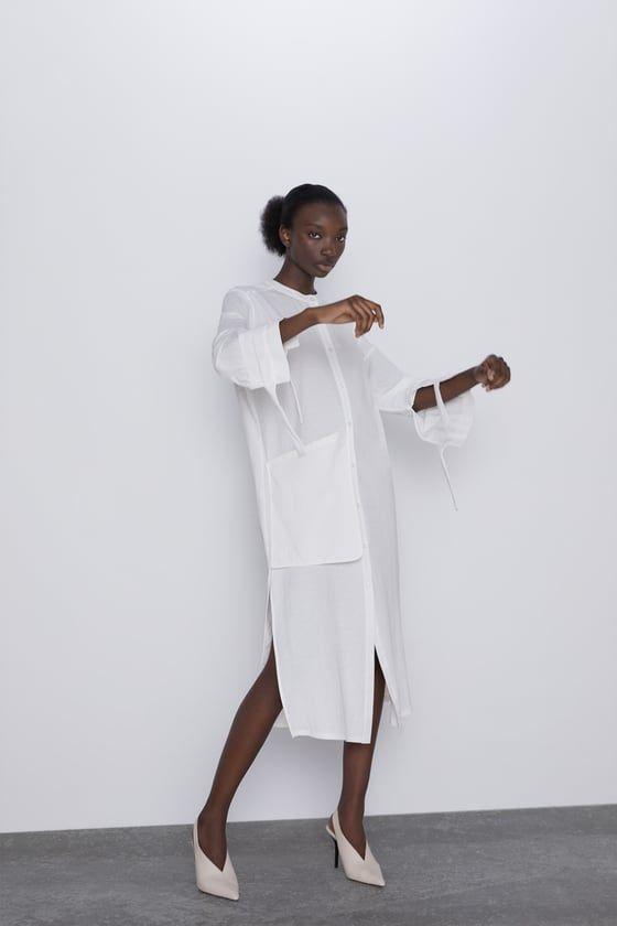 Zara white shirt dress   White shirt dress, Shirt dress, Zara ...