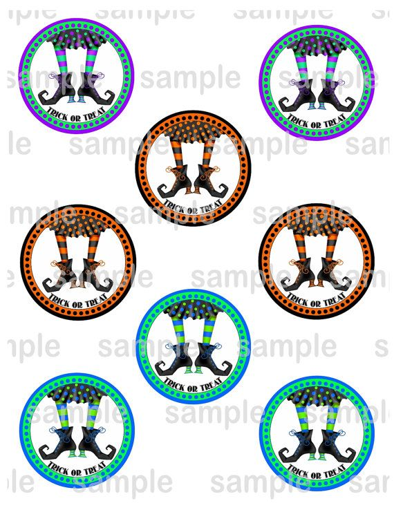 Halloween 2.5 inch circle Printable Favor tags / by SugarPieStudio