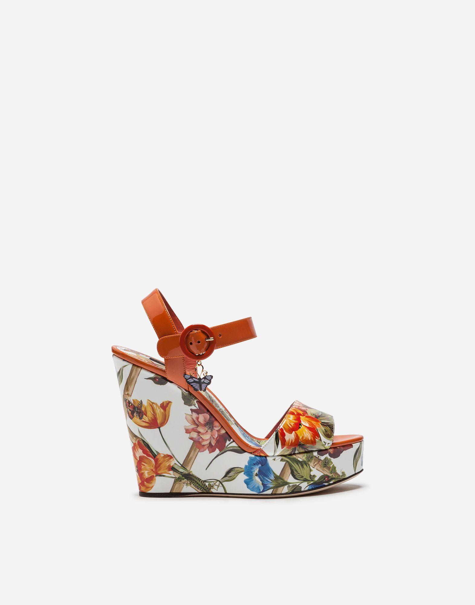 Dolce \u0026 Gabbana Wedge Sandal In Printed