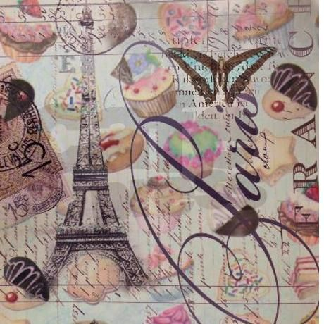 french pastry paris eiffel tower d Shower Curtain ...