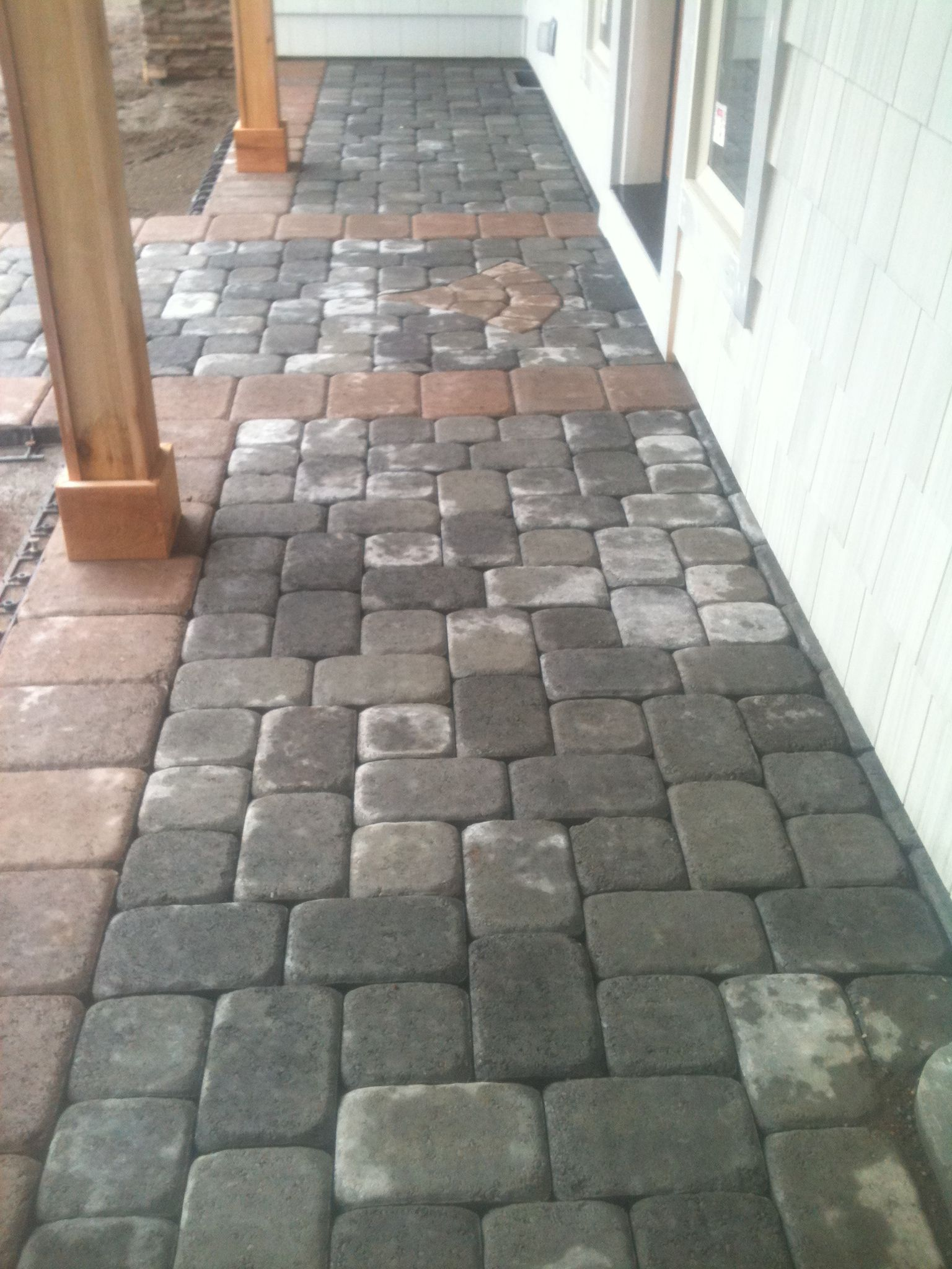 Exterior Of Mudroom Addition In Portland Oregon I Love The Porch: Nice Option For The Front Entry To A New Home. This Paver Walkway And Front Porch Are A Simple