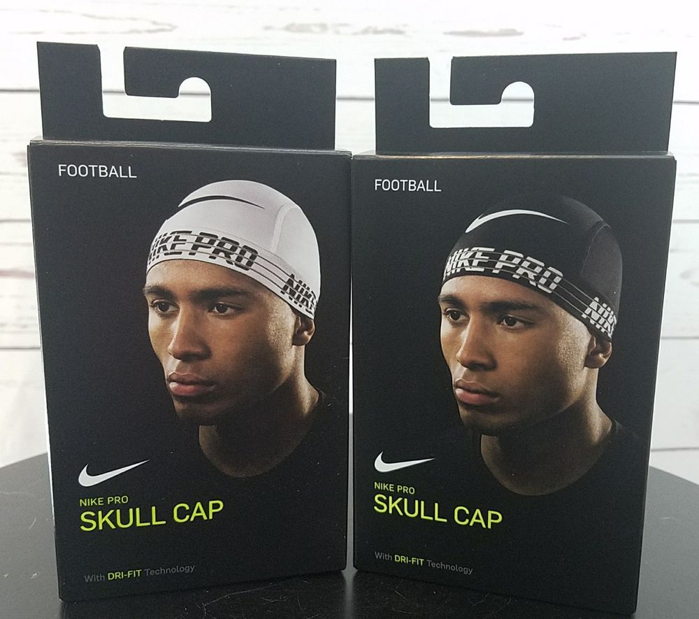 5b6ae87b35867 2 Nike Pro Skull Cap Dri-Fit OSFM Unisex Black   White  Nike  SkullCap