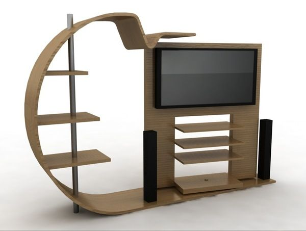 Creative Tv Stand Ideas As New Style Of Modern Display Wooden Quecasita