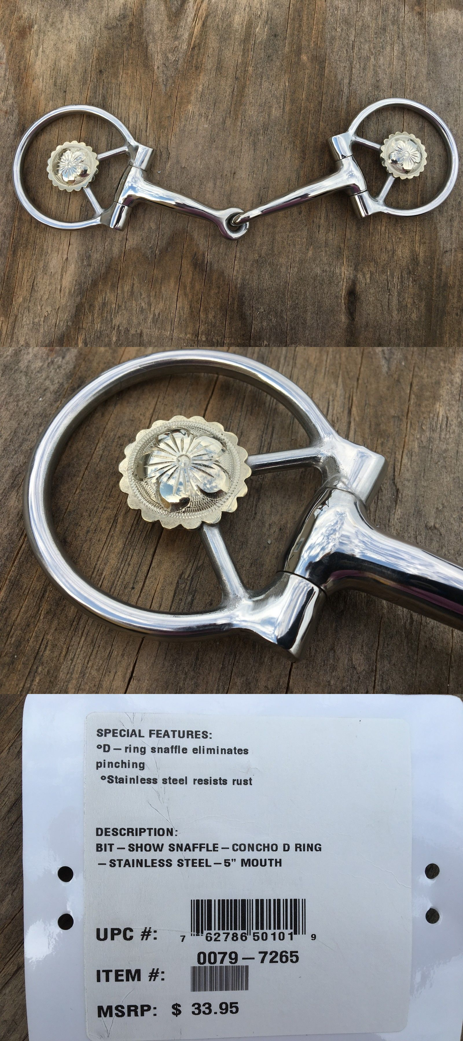 Bits 16244 Circle Y Western Offset Dee Show Snaffle Bit W Conchos Stainless Steel Buy It Now Only 22 On Ebay C Conchos Silver Engraving Silver Bracelet