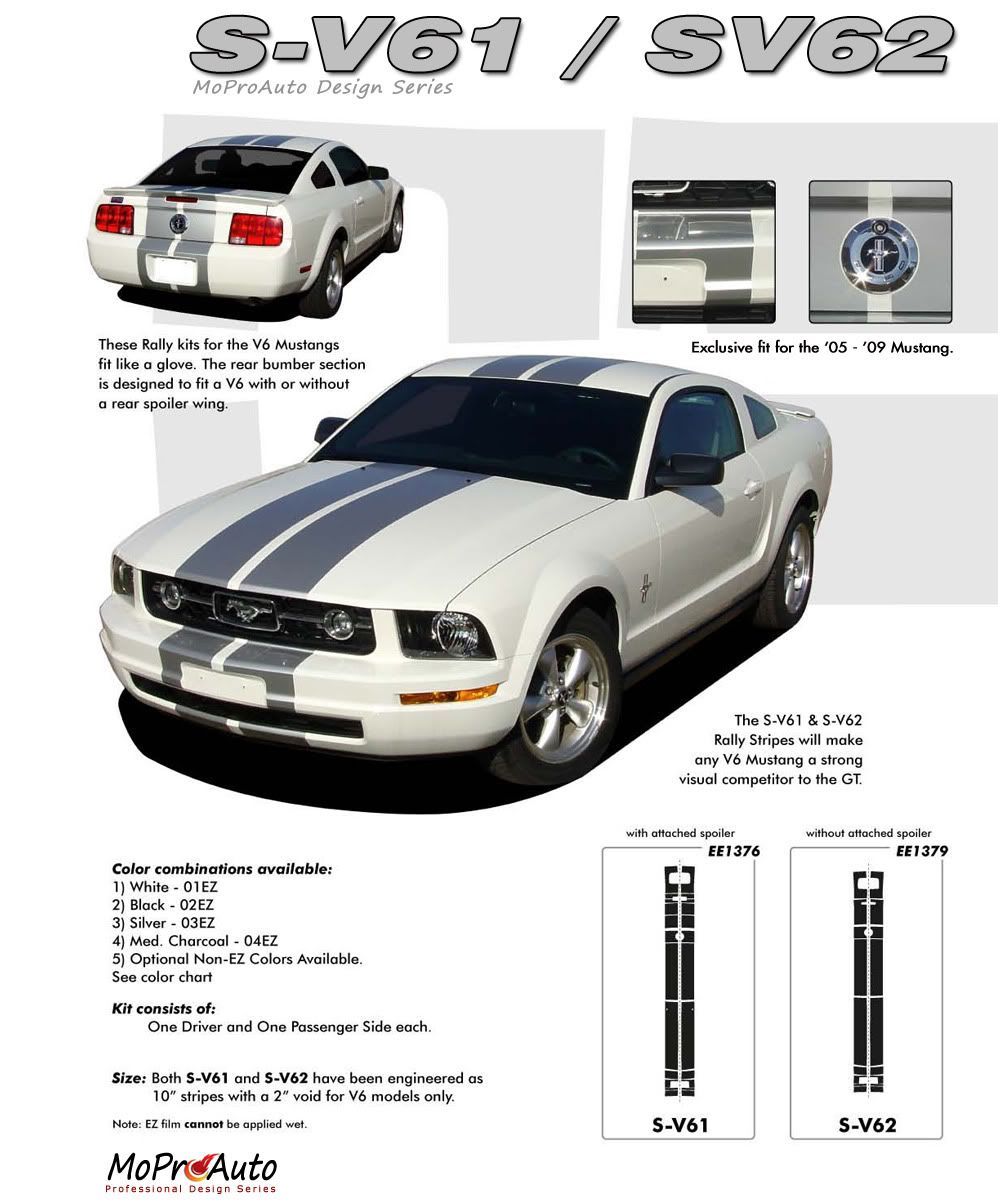 Pin On 2005 2009 Ford Mustang Vinyl Graphics Stripes And Decals