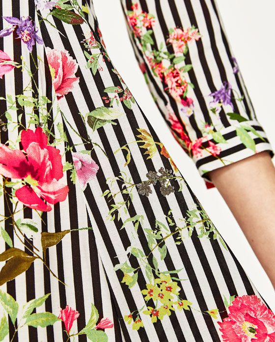 5339ee636d28 Image 7 of LONG STRIPED AND FLORAL PRINT DRESS from Zara | Print ...