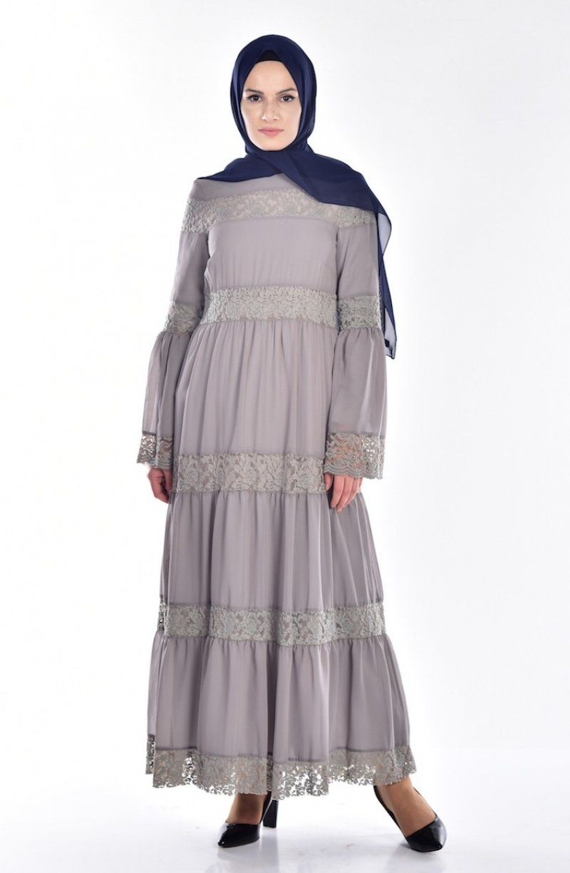 Sefamerve Tesettur Dantel Detayli Elbise Modelleri Elbise Modelleri Victorian Elbiseler Elbise