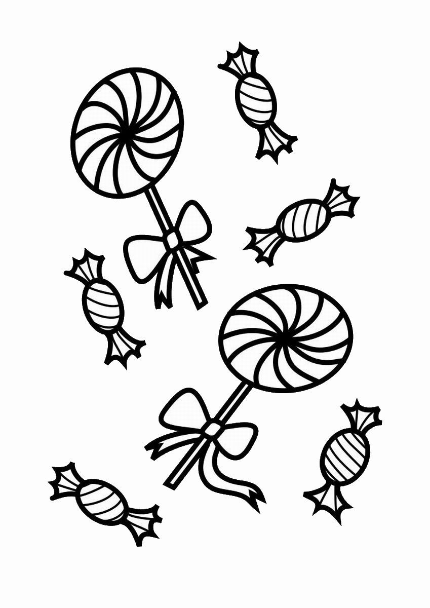 Lollipop Halloween Coloring Pages