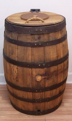 White Whiskey Barrel ~ Coach leather pocket swingpack style f sv white