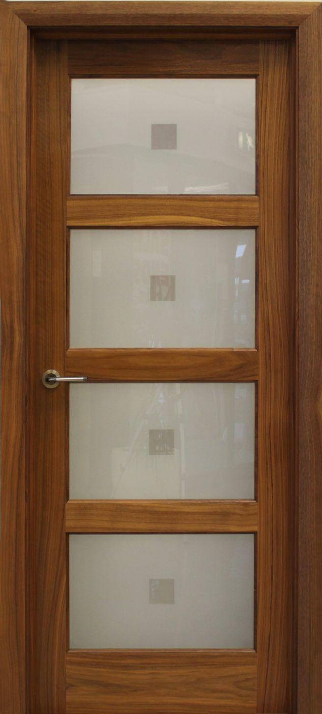 Contemporary 4 Lite Walnut Door 40mm Internal Doors Glazed Doors Walnut Doors Wood Doors Glazed Door