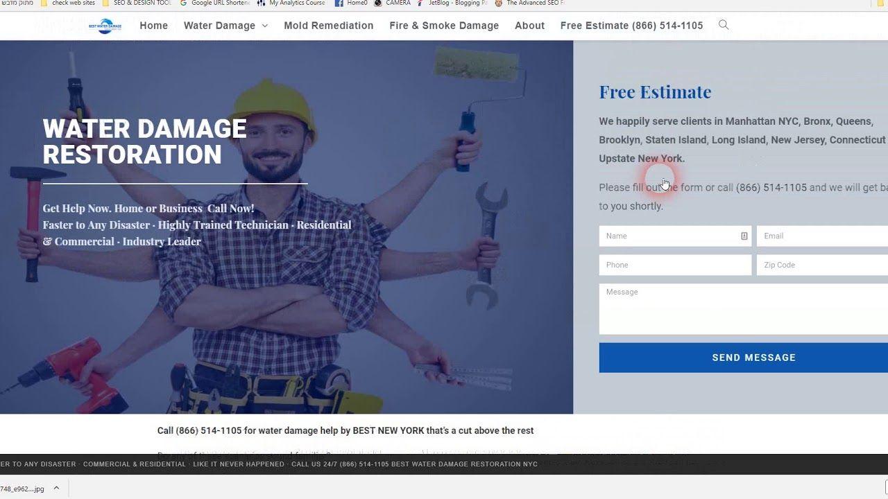 Web Design Seo For Water Damage Fire Damage Restoration Companies Damage Restoration Fire Damage Water Damage