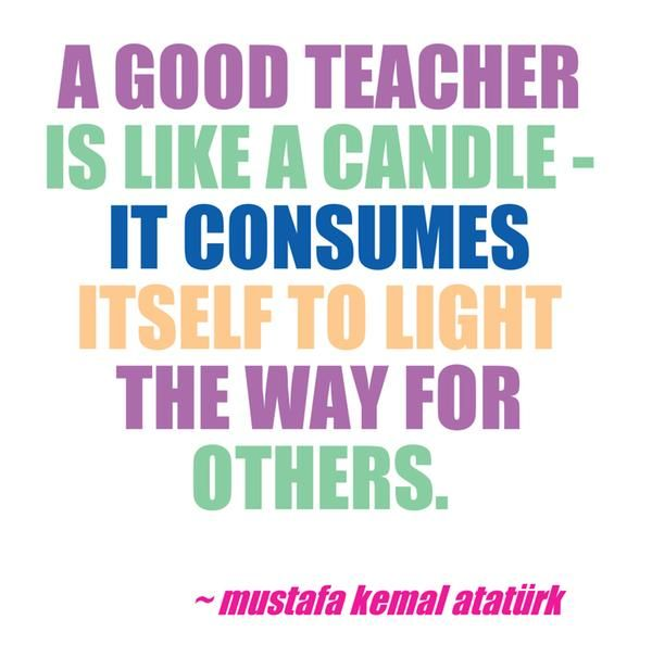 Lovely Teacher Quotes: A Good Teacher Is Like A Candle