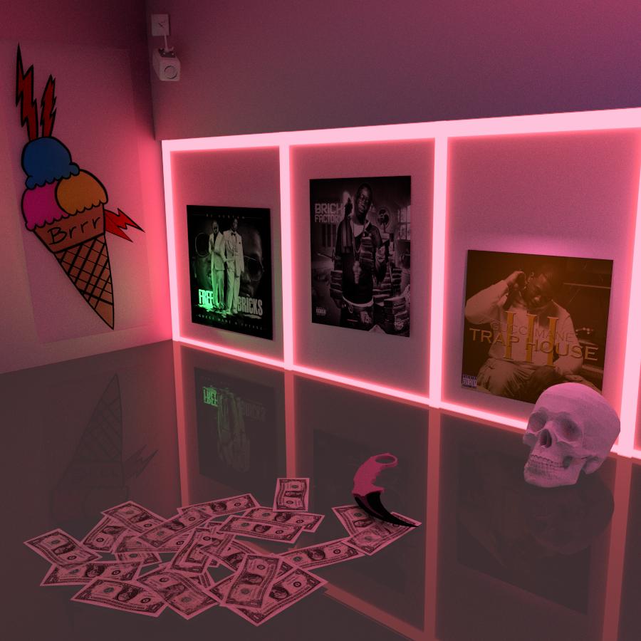 Trap House Gucci Shrine Laflare1017 Chic Bedroom Decor Girl Bedroom Decor Neon Room