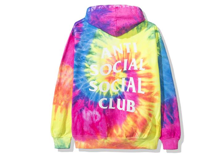 Anti Social Social Club Laguna Hoodie Fw19 Rainbow Tie Dye Anti Social Social Club Anti Social Social Club Hoodie Anti Social