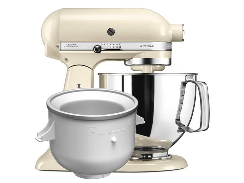 Kitchenaid Artisan Mixer 125 Almond Cream Ice Cream Bundle