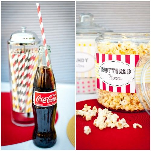 Movie Night Party - Printable Party Collection  -Use with backyard boxes as drive-in cars or blow-up kiddie pools filled with pillows and blankets.