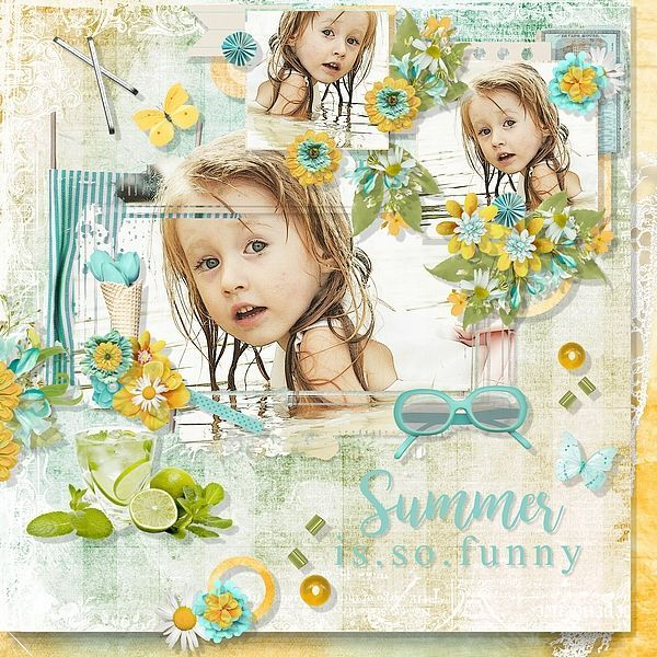 This Summer Digi This Summer Design template, Digital