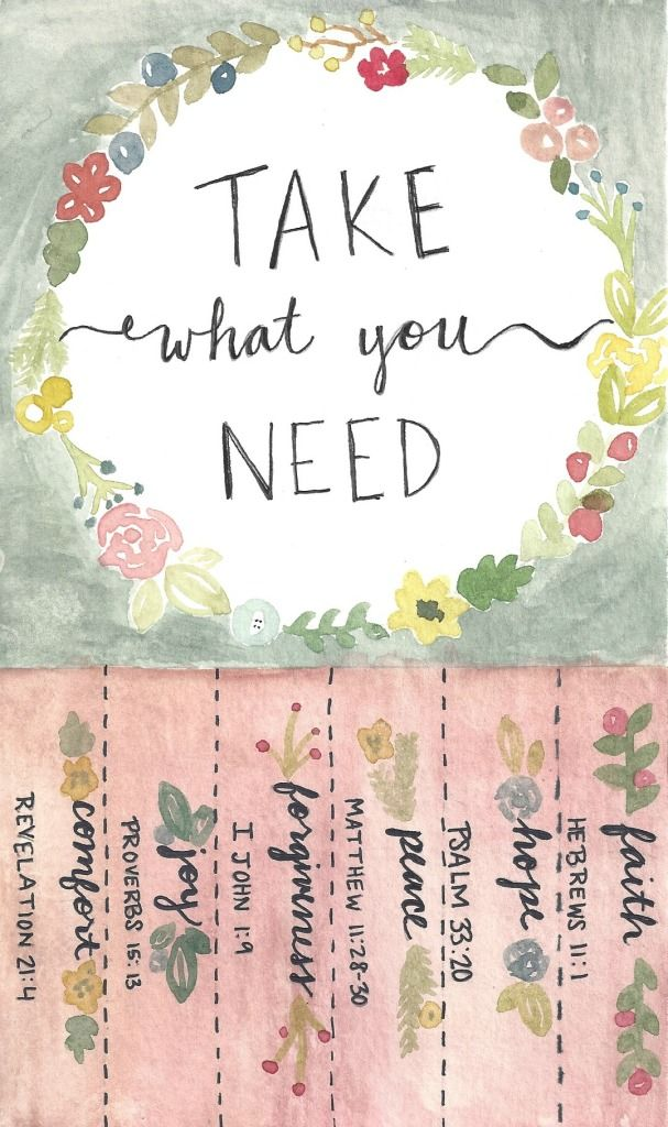 Cute free printable! Show love to the people around you Take what