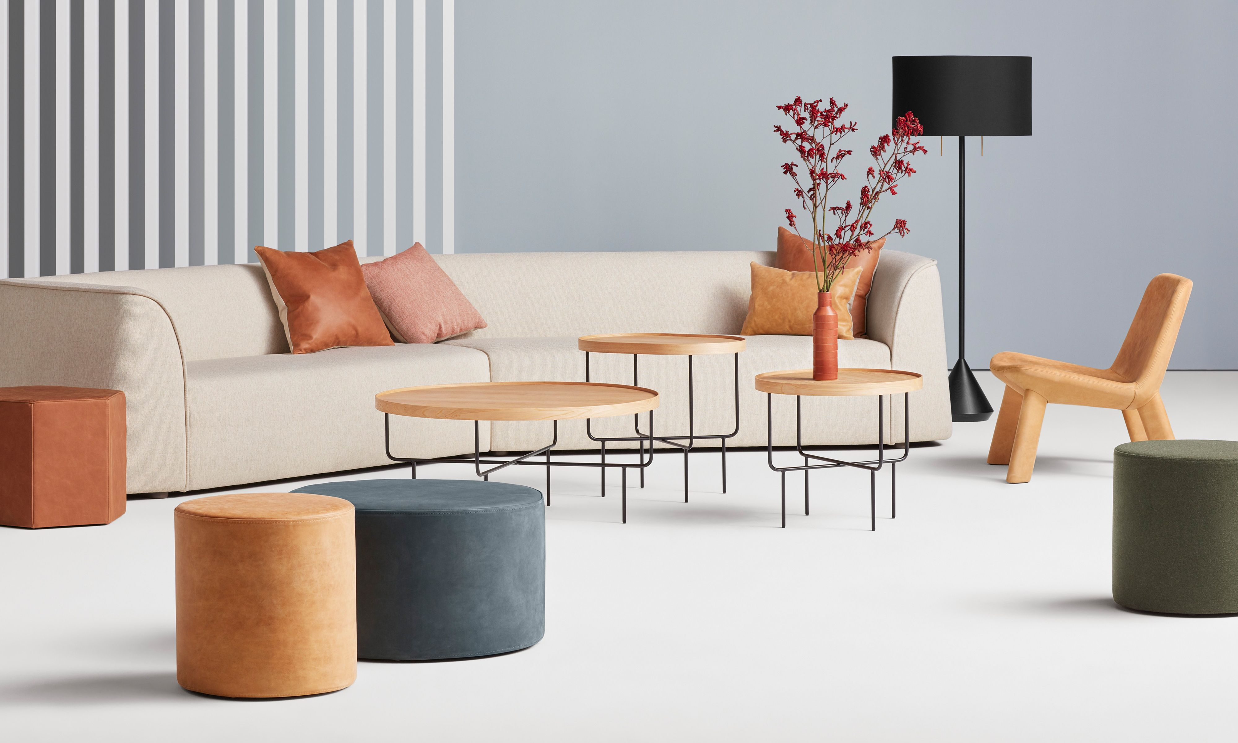 Roundhouse Tall Side Table In 2020 Coffee Table Contemporary
