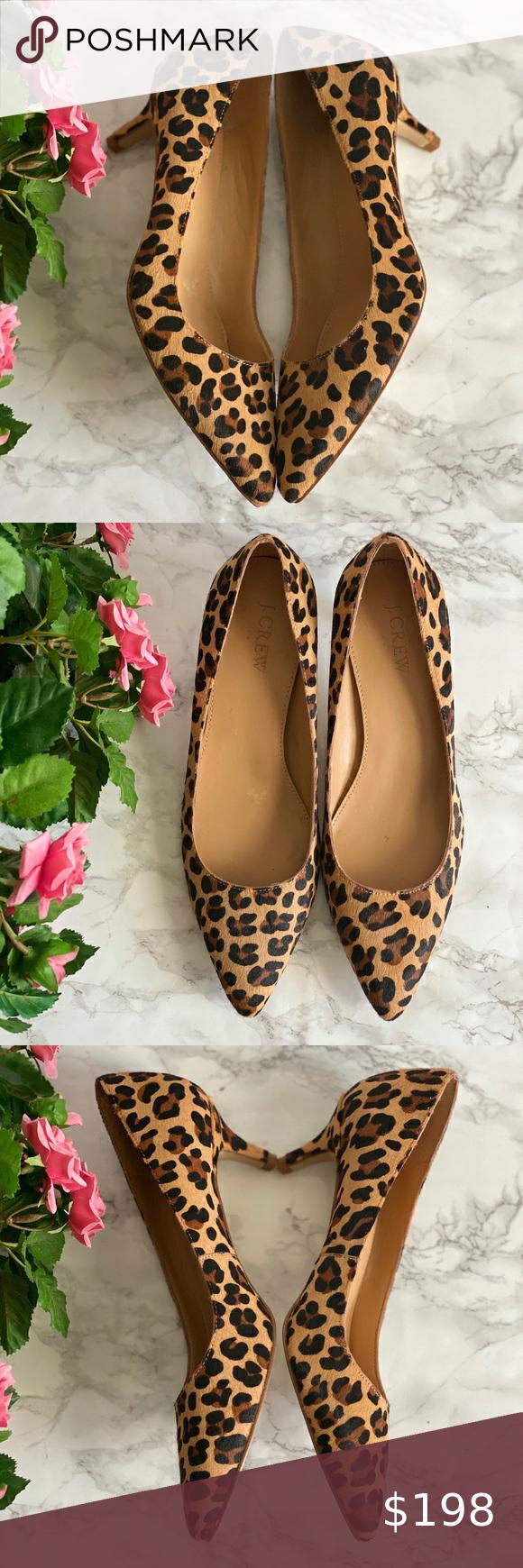 Sale J Crew Leopard Calf Hair Kitten Heels In 2020 Shoes Women Heels Kitten Heels Heels