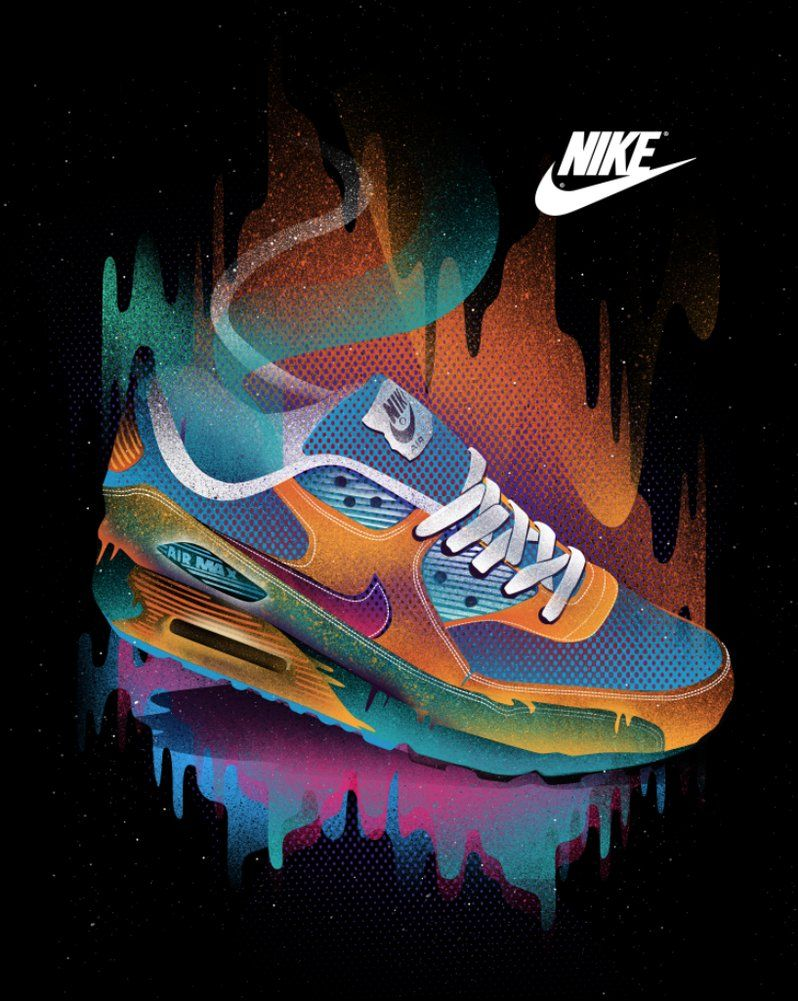 nike air max 90 qs holographic wallpaper