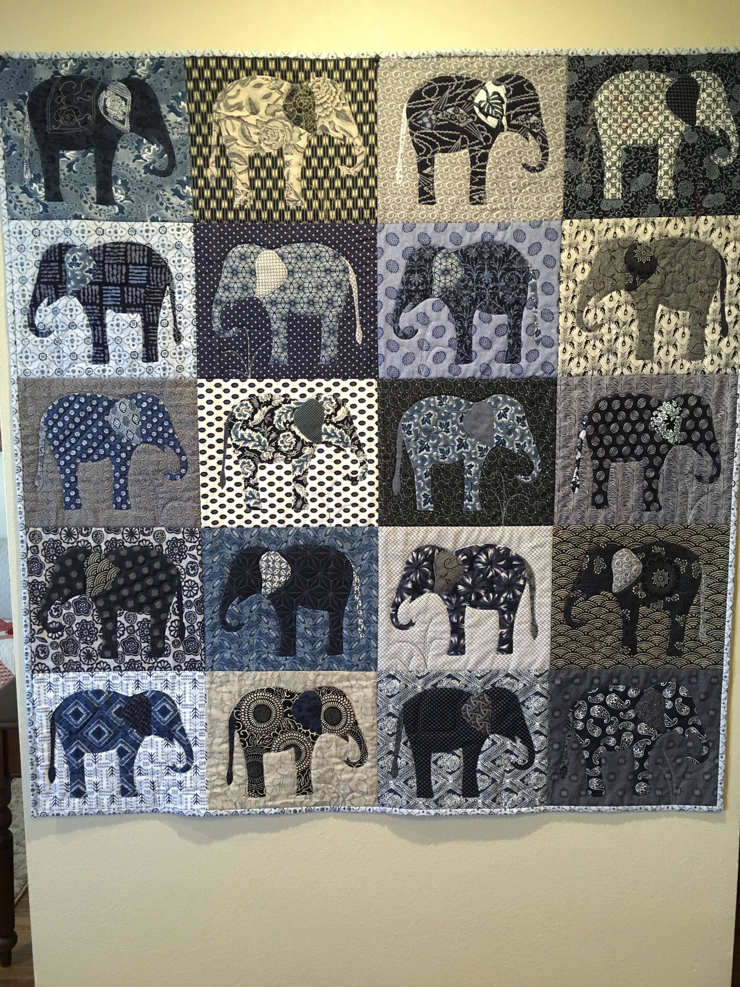 Learnhowtoquilt Com Applique Elephants Quilted By Angie Woolman