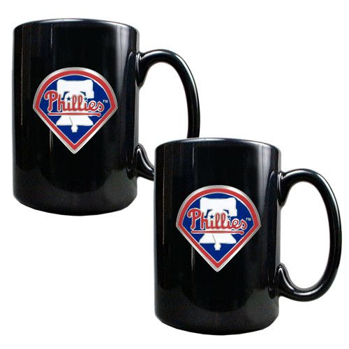 MLB Philadelphia Phillies 2pc Coffee Mug Set
